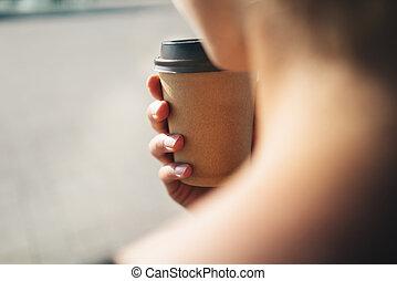 caffè, mockup, tazza