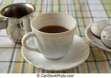 caffè, nero, tazza