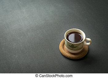 caffè, nero, tazza, tabletop., rustico