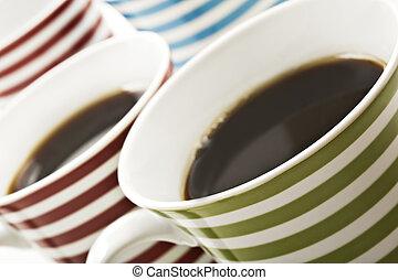 caffè nero, tazze, ups, chiudere