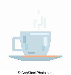 caffè, piattino, tazza
