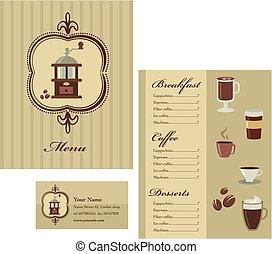 caffè, sagoma menu, -, 2