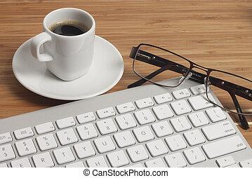 caffè, scrivania ufficio