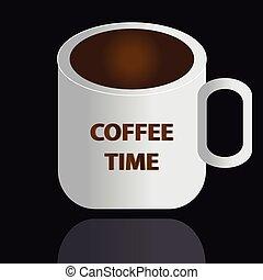 caffè, sfondo nero, tazza