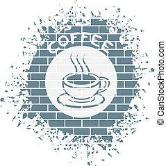 caffè, simbolo, bello