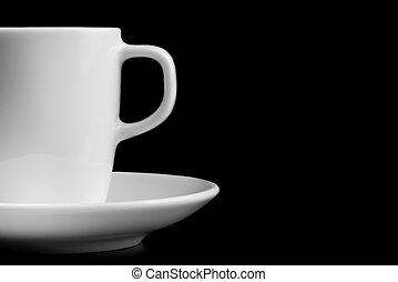 caffè, spazio, testo, tazza, dettaglio, bianco