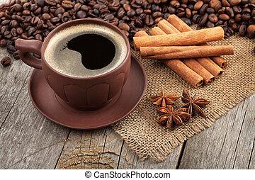 caffè, spezie, tazza