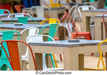 caffè, terrazzo, colorito