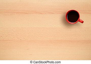 caffè, ufficio, tazza, cima, scrivania, vista