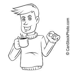 caffè, uomo affari