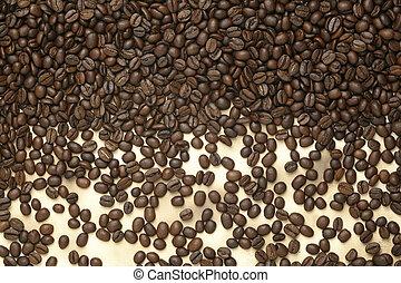 caffè, vecchio, edizione, carta, fagioli, caffe