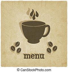 caffè, vecchio, fondo