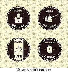 caffè, vendemmia, etichette