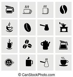 caffè, vettore, set, icona