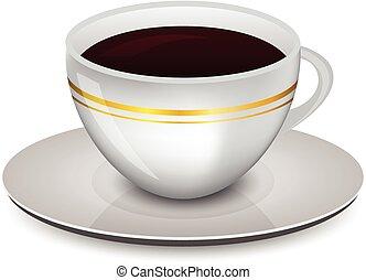 caffè, vettore, tazza