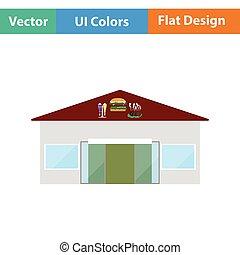 Caffe in amusement park icon. Flat design. Vector...
