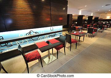 caffee restaurant - coffee restaurant indoor with luxury...