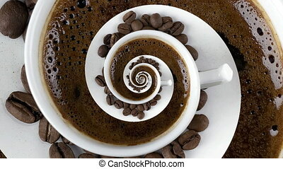 Caffeine Addiction Swirl - Abstract Caffeine Addiction...