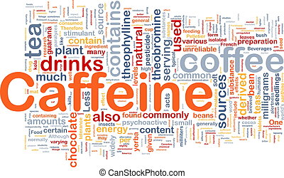 Caffeine background concept - Background concept wordcloud...