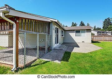 cage., 庭, 家の 外面, 裏庭, rambler
