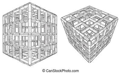 Cage Box Cube
