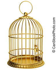Cage - Gold cage