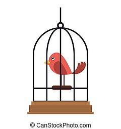 Cage dessin anim oiseau - Dessin oiseau en cage ...