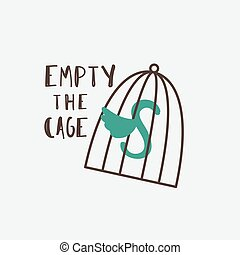 Empty the Cages - Cage symbol with Empty the Cages ...