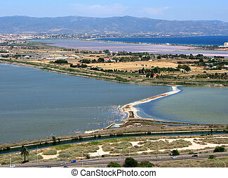 Cagliari capital of the island Sardinia Italy