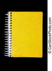 cahier, jaune