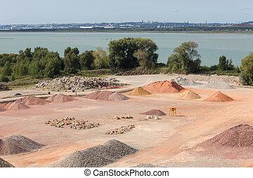 cailloux, le, aggregates, france, havre, parc bestiaux, sables