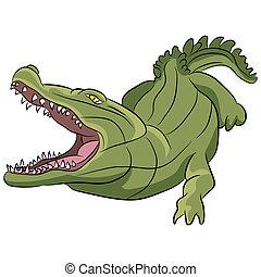 caimán, caricatura