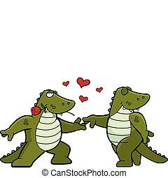 caimán, romance