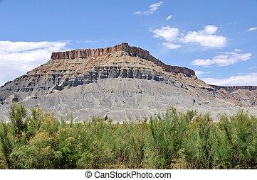 caineville, deserto, -, nord, butte, utah