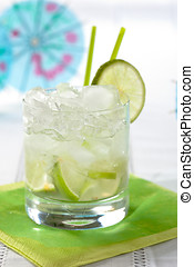 Caiparinha - Delicious brazilian drink with lime and cachaca