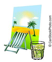 caipirinha and deck chair