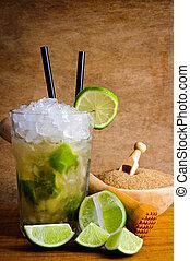 Caipirinha cocktail - Still life with caipirinha cocktail...