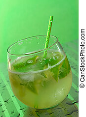 Caipirinha in a glass