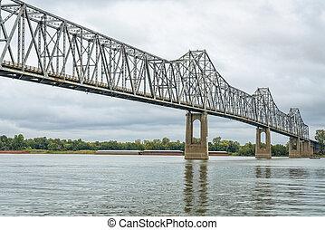 caire, rivière, ohio, pont