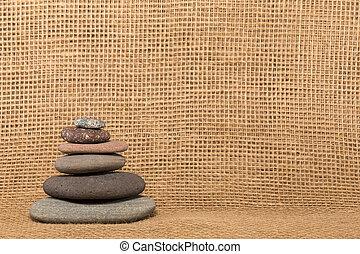 cairn, tela ruvida, fondo, pietra