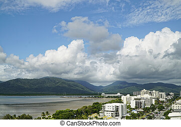Cairns on a stormy day