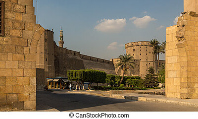 The Saladin Citadel of Cairo, a fortified medieval castle with a mosque and museum serving as one of Egypt's top tourist destinations