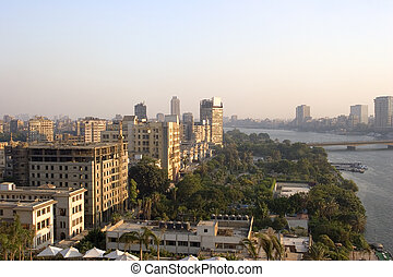 Cairo City - View from Cairo, by the Nile.