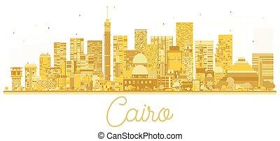 Cairo Egypt City skyline golden silhouette. Vector illustration.