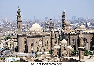 cairo, egypte, landschap, beroemd, kasteel
