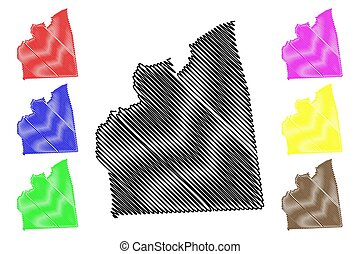 Cairo Governorate (Governorates of Egypt, Arab Republic of Egypt) map vector illustration, scribble sketch Cairo map