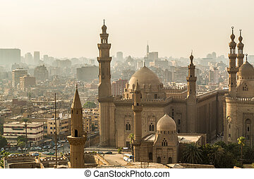 Cairo Mosque - One of the many grand mosques found in...