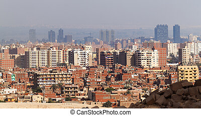 Cairo view from Giza plateau