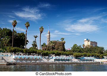 Cairo view from Nile river, Egypt.