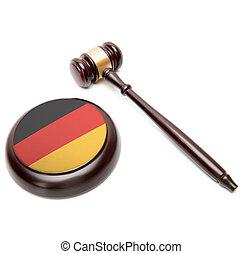 caisse de résonnance, national, -, il, juge, drapeau, allemagne, marteau